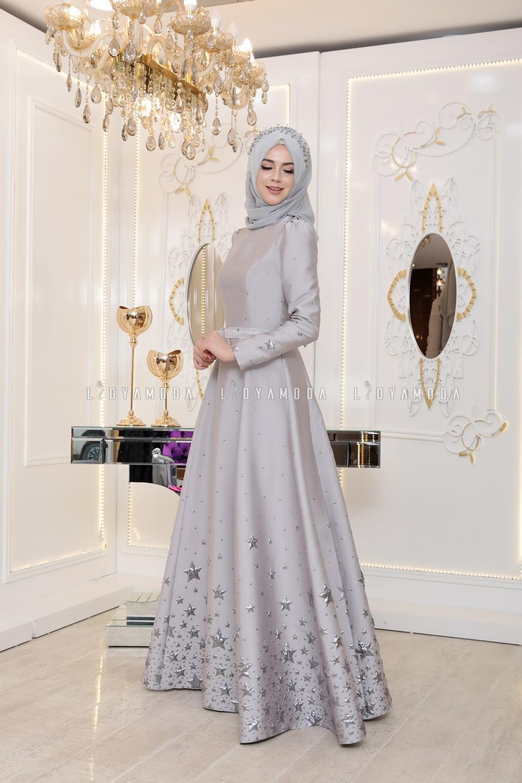 3724c26292474 Pınar Şems - Yıldız Abiye - 485,00 TL - Lidya Moda Tesettür Giyim